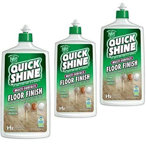 Quick Shine Floor Finish, 27 fl oz - 3 Bottles