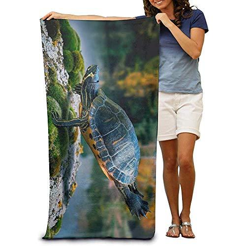 utong 100% Baumwolle Strandtücher 80x130cm Quick Dry Handtuch für Schwimmer Turtle Beach Blanket