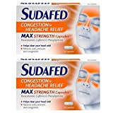 2 x 16 Capsules Sudafed MAX Strength Congestion Fast Action