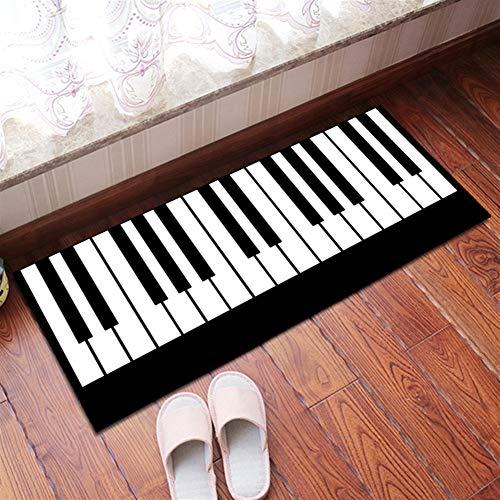 Insun Teppich Küchen Läufer Küchenmatte Waschbar rutschfest Schlafzimmer Badezimmer Fußmatte Modern Muster Klavier 60x180cm