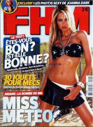 FHM FOR HIM MAGAZINE N? 77 du 01-12-2005 LE TEST - ETES-VOUS...