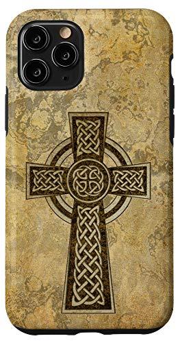 iPhone 11 Pro Classic Celtic Cross - antique vintage style 1a Case