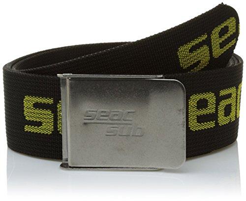 Seac Bleigurt mit Metallschnalle schwarz/Silber schwarz schwarz/gelb