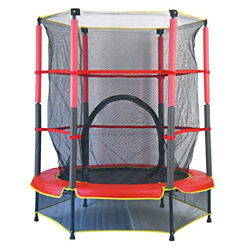 KOQIO 5FT Garden Gym Children Trampoline, Outdoor Bouncer with Safety Enclosure Net for Play and Exercise Jumping Trampoline for Kids and Adult