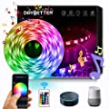 DAYBETTER LED Strip Lights, Smart LED Lights 16.4ft Waterproof 5050 RGB 150 LEDs Color Changing Controlled by Phone APP, Sync to Music, WiFi LED Strips Work with Alexa, Google Assistant for Bedroom