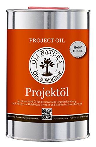 OLI-NATURA Projektöl (Universalholzöl), Inhalt: 1 Liter, Farbe: Weiß gekälkt