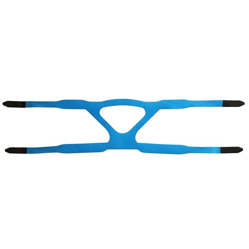 メロンクランプ誓うユニバーサルヘッドギアコンフォートジェルフルマスク安全な環境での取り替えCPAPヘッドバンドなしPHILPSに適した - ブルー&グレー