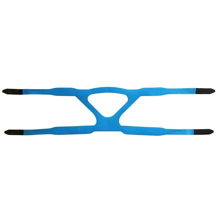 トランジスタ東方冒険者ユニバーサルヘッドギアコンフォートジェルフルマスク安全な環境での取り替えCPAPヘッドバンドなしPHILPSに適した - ブルー&グレー