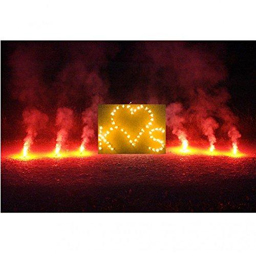 Krause & Sohn Brennendes Herz mit Zwei Buchstaben Ihrer Wahl und 10 roten Bengalfeuern