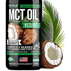 Organic MCT Oil for Brain, Energy & Weight Loss Boost - Made in USA - 100% Natural Pure Coconut Oil - Premium Metabolism Booster & Workout Enhancer - Keto & Paleo Friendly - Cruelty-Free - 16 oz 7