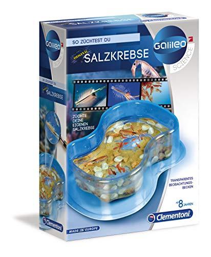Clementoni 69937 Galileo Science – Original Salzkrebse, Züchten & Beobachten von Urzeitkrebsen, Spielzeug für Kinder ab 8 Jahren, Biologie zum Anfassen, für kleine Forscher