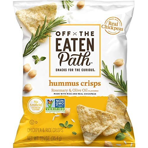 Off the Eaten Path Hummus Chips, Rosemary & Olive Oil, 1.25oz (Pack of 16)