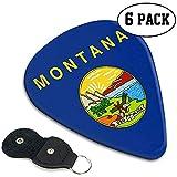 Plectres de guitare classique (paquet de 6) Choix de guitares Montana Flag pour guitare électrique, guitare acoustique, mandoline et basse