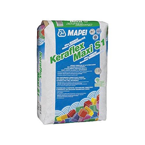 Adesivo cementizio bianco per incollaggio di piastrelle 23kg Keraflex Maxi S1 Mapei