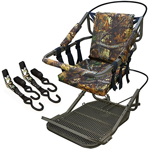 XtremepowerUS Outdoor Tree Stand Climber Climbing Hunting Deer Bow Game Hunt Portable Treestand Padded Seat