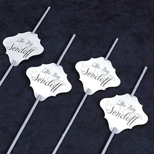 36 pc Wedding Sparklers Tags - The Big Sendoff - Cream Shimmer Paper