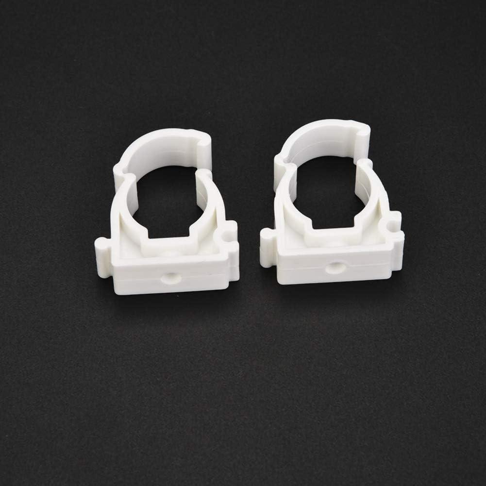 con Tornillos para Abrazaderas de PVC de 16//20//25//32 mm Juego de Abrazaderas de Manguera de pl/ástico 16mm+Screw 20pcs