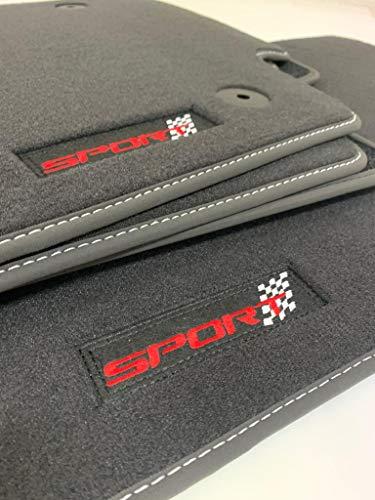 Accesorionline Alfombrillas Velour Premium X3 2003-2010 alfombras con Bordes Piel. Máxima Calidad