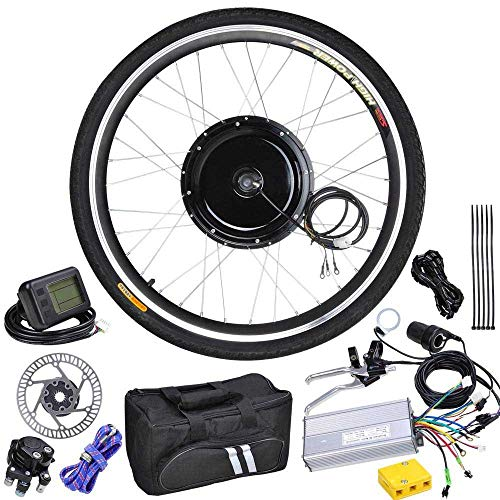 Price comparison product image 48 Volt 1000 Watt 26 Inch Electric Bicycle Conversion Motor Kit LCD Front Wheel
