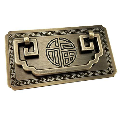 Tiazza Estilo chino antiguo anillo de latón tirador manija conjunto gabinetes de cocina armario cajón muebles clásicos decoración vintage clásico mango de cobre puro