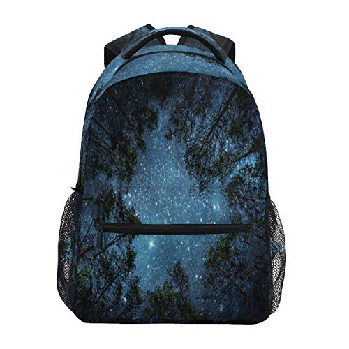 LUCKYEAH Forest Tree Star Backpack School Book Bag for Teen Boy Girl Kids Daypack Rucksack for Travel Camping Gym Hiking