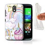 eSwish Gel TPU Hülle/Case für HTC Desire 526G+ / Cupcake