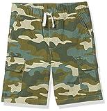 Spotted Zebra Boys' Kids Cargo Shorts, Camo, Small