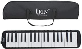 37 Keys Piano Melodica Educational Musical Instrument with Carrying Bag Black