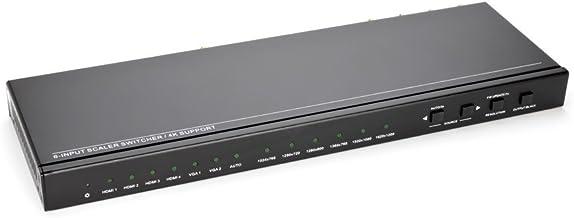 Rivule 6x1 HDMI Scaler Switcher - Salt by Sewell, 4K@30Hz/1080P, 4 HDMI/2 VGA Mixed Input Presentation Switch, by Salt