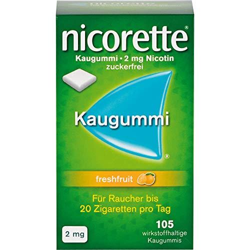 nicorette Kaugummi freshfruit 2 mg Reimport Pharma Gerke, 105 St. Kaugummi