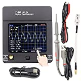 Yuqiyu Pantalla portátil DSO112A TFT Mini Digital Osciloscopio Toque Pantalla de Contacto portátil USB Portátil Interfaz de osciloscopio 2MHZ 5MSPS (Color : DSO150)