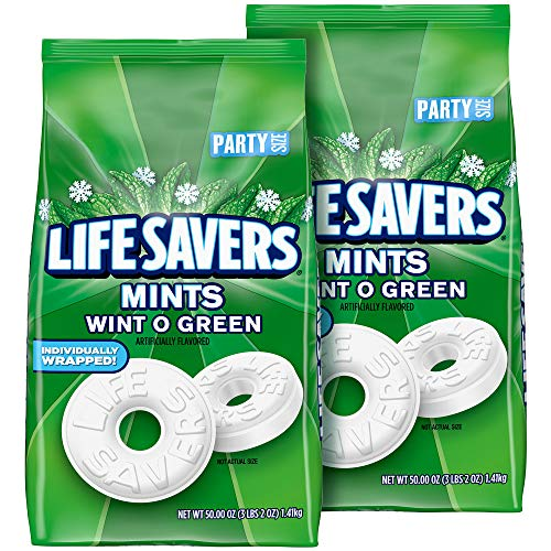 Life Savers Mints Wint-O-Green Hard Candy, 50 Oz Party Size Bag (Pack Of 2)
