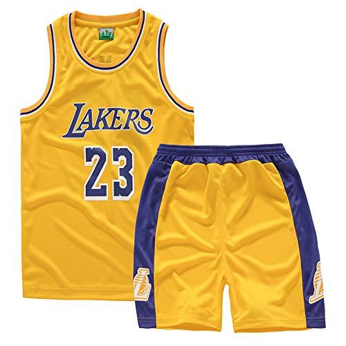 GAOZI Magliette da Basket Maglie da Basket Lakers #24 Bryant Jersey Bambini Maglia Pantaloncini da Basketball Jersey Set di Abbigliamento Sportivo Maglie,Children Jersey