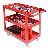 3 Tier Workshop Trolley Heavy Duty Workshop Garage Mechanic Utility Trolley Service Tool Cart UK