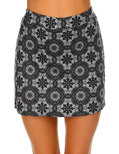 Ekouaer Women's Running Light Skort Pockets High Waist Skirts