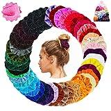 Scrunchies 45 Stück Haargummis Samt 45 Farben Haar Gummibänder Haarbänder