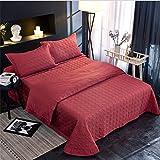 UMOOIN Red Bedspread King Size 250x270cm Trapunta Morbida Leggera 250x270cm con 2 pillowshams per Tutti i copriletti per Tutte Le Stagioni,Rosso,250 * 250