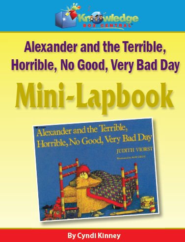 Alexander & the Terrible, Horrible, No Good, Very Bad Day Mini-Lapbook - CD - 50% OFF
