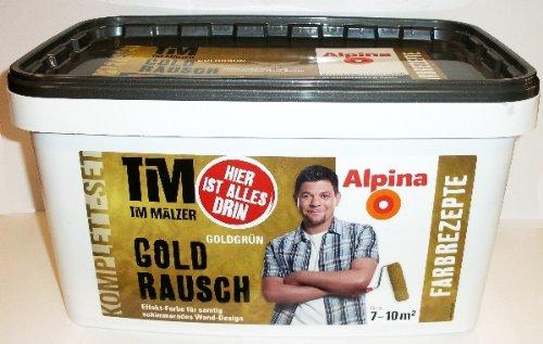 Alpina, Tim Mälzer Farbrezepte GOLDRAUSCH Goldgrün Komplett-Set