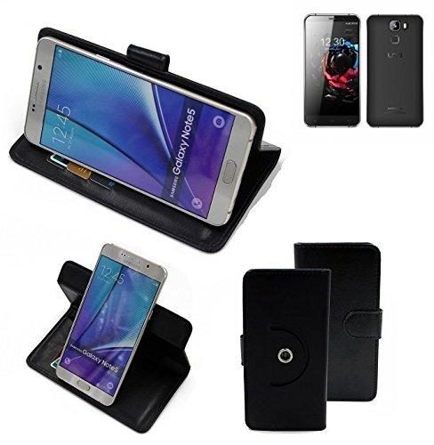 K-S-Trade® Case Schutz Hülle Für UMI Hammer S Handyhülle Flipcase Smartphone Cover Handy Schutz Tasche Bookstyle Walletcase Schwarz (1x)