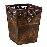 Tedyy Papelera de madera antigua con diseño de granja, para...