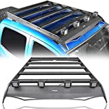 Hooke Road Tacoma Top Roof Rack Luggage Cargo Carrier w/4x18W LED Lights for 2nd 3rd Gen Tacoma 2005-2020 4-Door Double Cab Pickup Truck