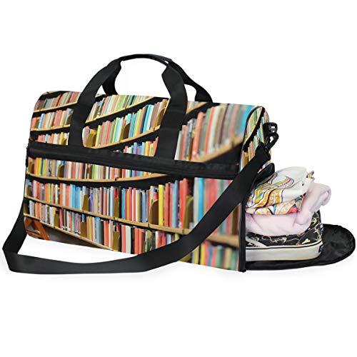 LUPINZ Cool Bücherregal Bücherregal Große Kapazität Reisetasche Sporttasche Sporttasche Fitness Sport Gear Gepäck Tasche für Damen und Herren