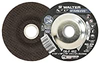 Walter Stainless Superior Grinding and Cutting Wheel, Type 27, Round Hole, Aluminum Oxide, 4-1/2 Diameter, 1/8 Thick, 7/8 Arbor, Grit A-30-SS COMBO (Pack of 25) by Walter Surface Technologies