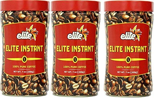Elite Instant Pure Coffee 7ounce Tin 3 Pack