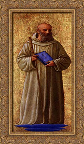 St. Romuald 14x24 Gold Ornate Wood Framed Canvas Art by Fra Angelico