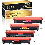 Arcon Cartucho de tóner compatible para HP 131X CF210X 131A para HP Laserjet Pro 200 Color MFP M276N M276NW M251N M251NW Canon i-Sensys LBP7100CN LBP7110CW MF8280CW CF211A CF212A CF213A A