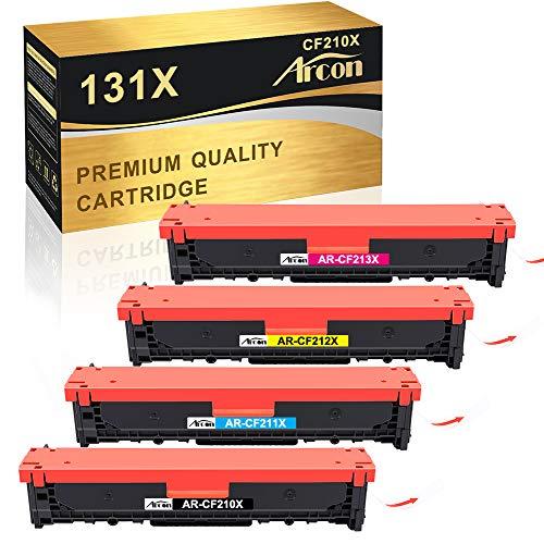 Arcon Remanufactured Toner Cartridge für HP 131X 131A CF210X CF210A HP LaserJet Pro 200 color M251n M251nw MFP M276n M276nw, 128A CE320A CP1525N CP1525NW CM1415FNW CM1415FN, 125A CB540A CP1215 CP1515N
