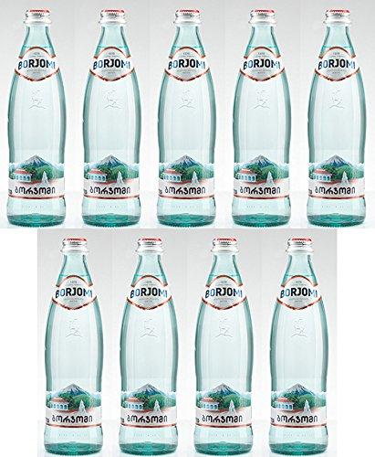 Mineralien Kohlensäurehaltige Wasser Borjomi Funkelndes Wasser in Glas Flasche, 0,33 l [Pack 9]
