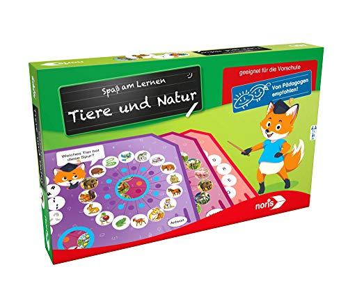 Noris 606071825 Tiere&Natur Spaß am Lernen Tiere und Natur, Lernspiel, violett